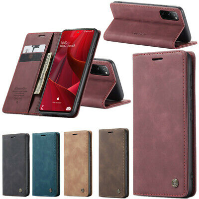 For Samsung Galaxy Note 10 Plus S10 Genuine Leather Wallet Card Flip Case Cover