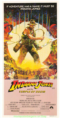 INDIANA JONES AND THE TEMPLE OF DOOM MOVIE POSTER 13x30 Aus.Daybill Jungle Style
