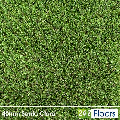 Nevada 40mm Realistic Artificial Grass Soft Natural Garden Lawn Astro Turf 2m 4m