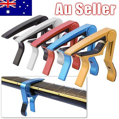 Guitar Capo Spring Trigger Electric Acoustic Clamp Quick Change Release wY