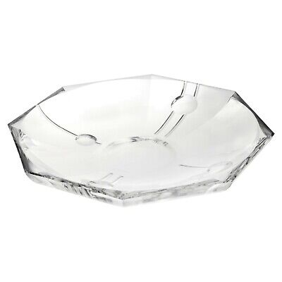 Large Crystal Dish Glass Serving Bowl Decorative Centerpiece Display Home Gift
