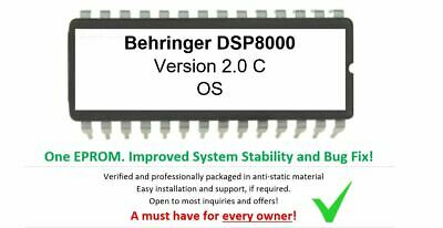 Behringer DSP8000 - Version 2.0 C Update OS Firmware Upgrade Eprom pour DSP-8000