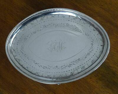 ANTIQUE GEORGE III, SCOTTISH STERLING SILVER TEAPOT STAND or TRAY EDINBURGH 1790