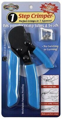 Bead Buddy 1 Step Crimper Tool, Crimps In One Squeeze! Fits Crimp Tubes & Beads