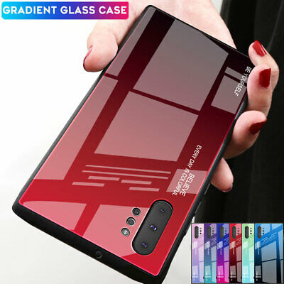 Slim Hybrid Gradient Tempered Glass Case Cover for Samsung Galaxy Note 10+ Plus