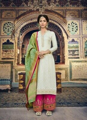 Bollywood Party Wedding Suit Heavy Salwar Kameez Pakistani Indian Designer Gown