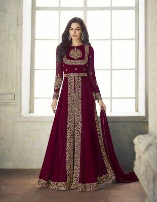 Bridal Party Wear Indian Pakistani Salwar Kameez Bollywood Heavy Wedding Gown