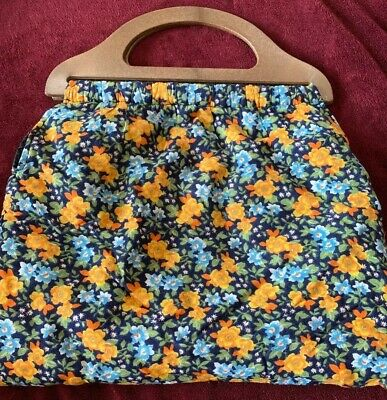 Craft / Knitting / Sewing Fabric BAG / Excellent Condition 40cm / Clean