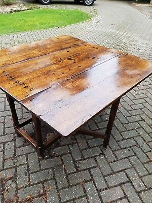 Georgian 18th Century Oak Gate leg Rectangular Dining Table