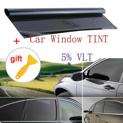 "39"" X 20 FT VLT 5% Uncut Roll Window Tint Film Charcoal Black Car Office Glass"