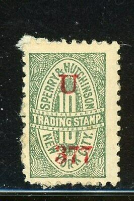 US Sperry & Hutchinson Trading Stamp - Overprint - Mint - Paper on Back