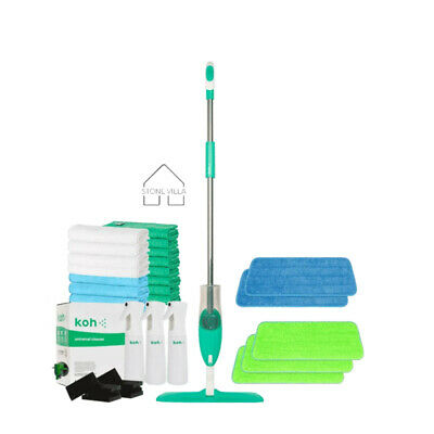Koh Universal Cleaner / CLEANING KIT Atomiser Microfibre Cloths Cleaning Sponges