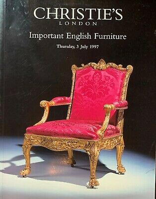 Christie's London Important English Furniture 3/7/1997  5822