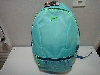 Under Armour Strom Girls Downtown Teal Green BackPack Bungee Cord top handle