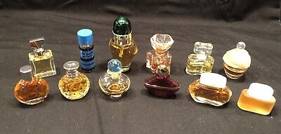 Lot Of 12 Vintage Miniature Perfume Bottle Collection