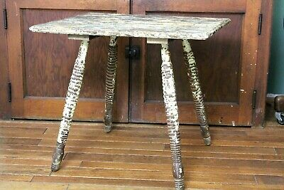 Rustic Wood Side End Table Old Chippy Paint Primitive Country Farm House Decor