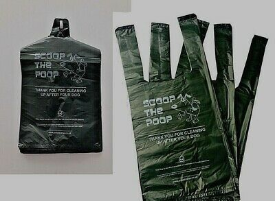 Dog Poop Bags Biodegradable.17Micron Thickness With Easy-Tie-Handle eco-friendly