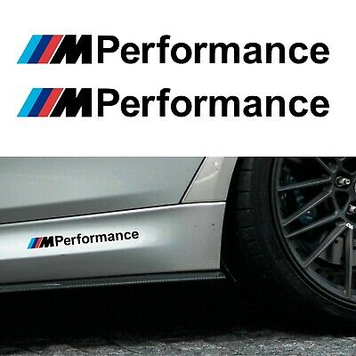 BMW M Performance Stickers Matt Black 200mm - Vinyl adhesive graphic car decals