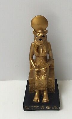 Dollhouse Miniatures Egyptian Statue Of  Sekmet Seated