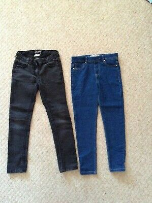Next Girls skinny and joggers Jeans Bundle 9-10 Years black and blue