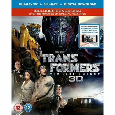 Transformers The Last Knight 2D And 3D Blu Ray New & Sealed