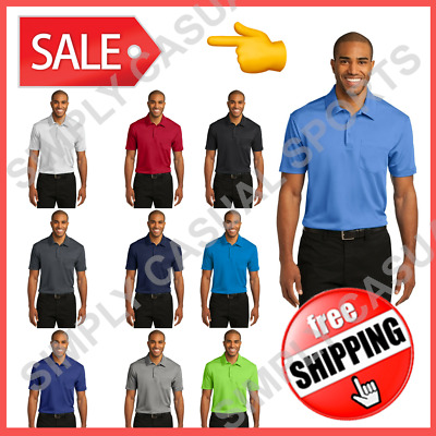 Mens Polo w/ Pocket Tag-Free Silk Touch Cooling Performance Port Authority K540P