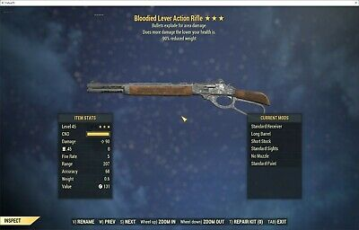 FALLOUT 76 (PC) 3🌟 Bloodied Explosive Combat Shotgun