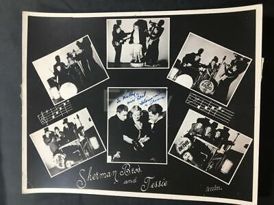 '40 Sherman Bros Jessie Comedy Autographed Authentic Signed Old Music Photo A113