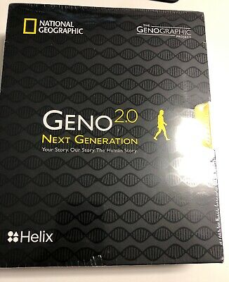 SEALED National Geographic DNA Test Kit Geno 2.0 Next Generation Ancestry Helix