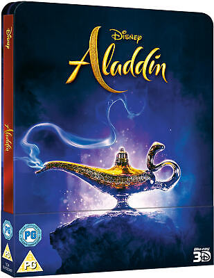 ALADDIN (2019) : 3D + 2D BLU RAY ( STEELBOOK - UK EXCLUSIVE) WILL SMITH PreOrder