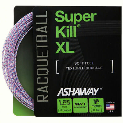 Ashaway Superkill Xl Racketball String 1.25Mm One 12M Set White/Red/Blue Spiral