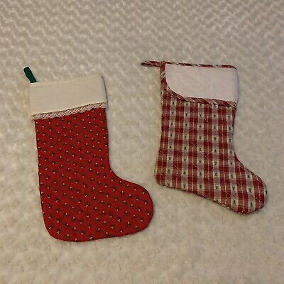 Needlecrafter Quilted Christmas 2 Stockings Counted Cross Stitch Holiday Crafts