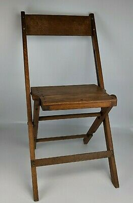 Vintage Snyder Chair Company Funeral Directors Chair - folding childs sample