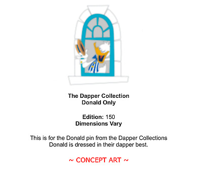 D23 Expo 2019 Dapper Collection Pin - Donald Only - LE 150