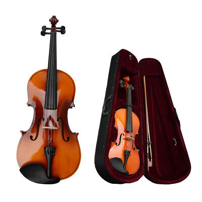 """High Quality Basswood Student Brown Acoustic Viola Size 15"""" with Case Bow Rosin"""