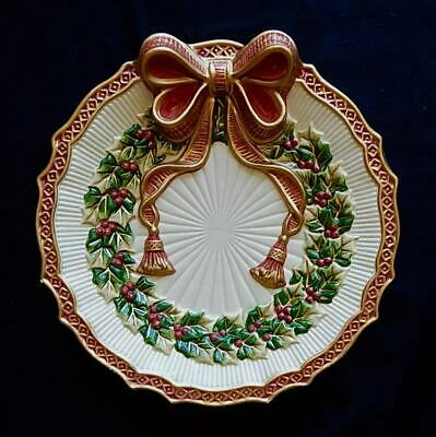 """Fitz & Floyd Essentials Noel Collection Christmas Canape Plate 9"""""""