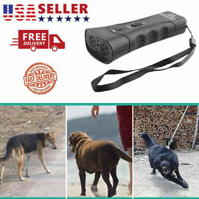 Anti Dog Barking Pet Trainer LED Light Ultrasonic Gentle Chaser Petgentle US