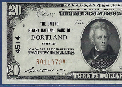 Or 1929 $20 ♚♚Portland,Oregon♚♚ The United States Nb   Pcgs Ch About New 58 Ppq