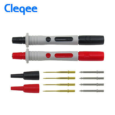 2PCS Digital Multimeter Test Lead Probe Wire Pen Replaceable Gilded Needle