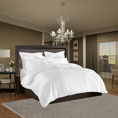 Egyptian Cotton Duvet Quilt Cover Bedding Set Single Double King With Pillowcase