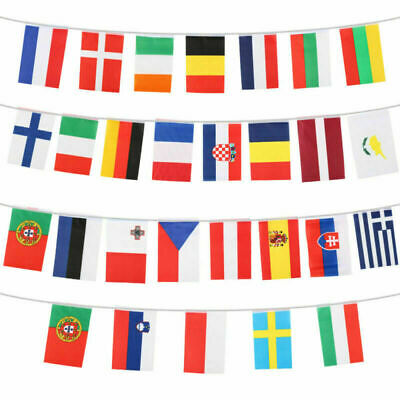 EU European Union 10 Metres 28 Fabric Flags Nations Of Europe Eurovision Bunting