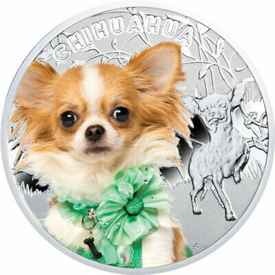 Niue 2014 1$ Chihuahua Man's Best Friends Proof Silver Coin