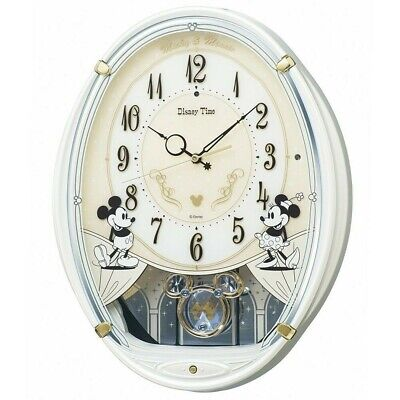 SEIKO CLOCK Mickey Mouse clock 6 songs Mickey Mouse Minnie Mouse 4 White FW579W