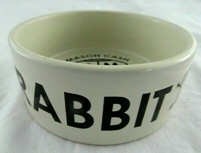 - Mason Cash - COAT OF ARMS 12cm White Black Ceramic RABBIT Bowl -  BRAND NEW