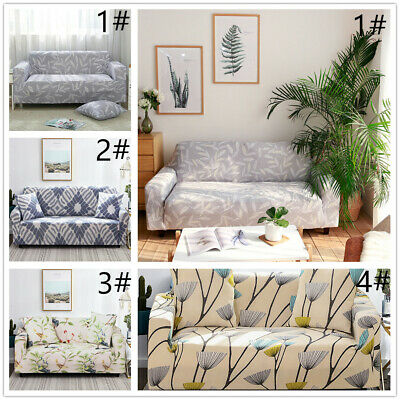 1-3 Sofa Covers Couch Slipcover Stretch Elastic Fabric Settee Protector Fit UK