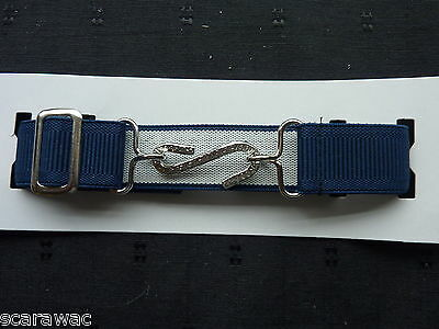 Stretchy Snake Belts/Boys/Girls/Childrens/Kids.. Navy Blue ..Adjusts To Fit All