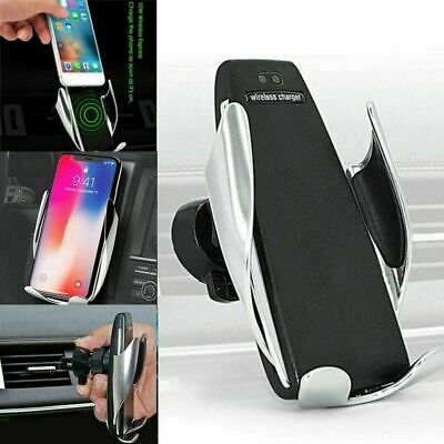 10W Automatic Qi Wireless Car Fast Charger Mount Clamping Phone Holder air vent