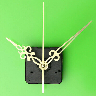 DIY Wall Quartz Clock Movement Mechanism Replacement Parts Kit Gold Hands