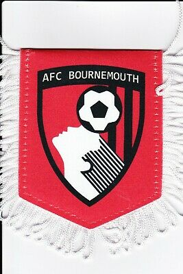 Vends mini fanion football  voiture AFC Bournemouth - Etat neuf - Soccer pennant