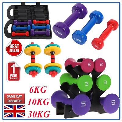6KG10/20KG/30kg Dumbbell Set with Stand | Free Weights Weight Training Exercise